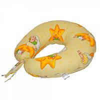 Подушка для кормления Славянский пух Мишки на луне антиаллергенная на завязках