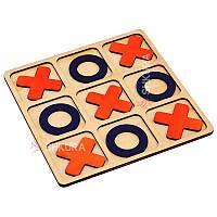 Деревянная игра крестики-нолики, фото 1