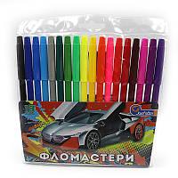 "Фломастеры 18 цветов ""Sportcar"", ПВХ, Josef Otten / 12/144"