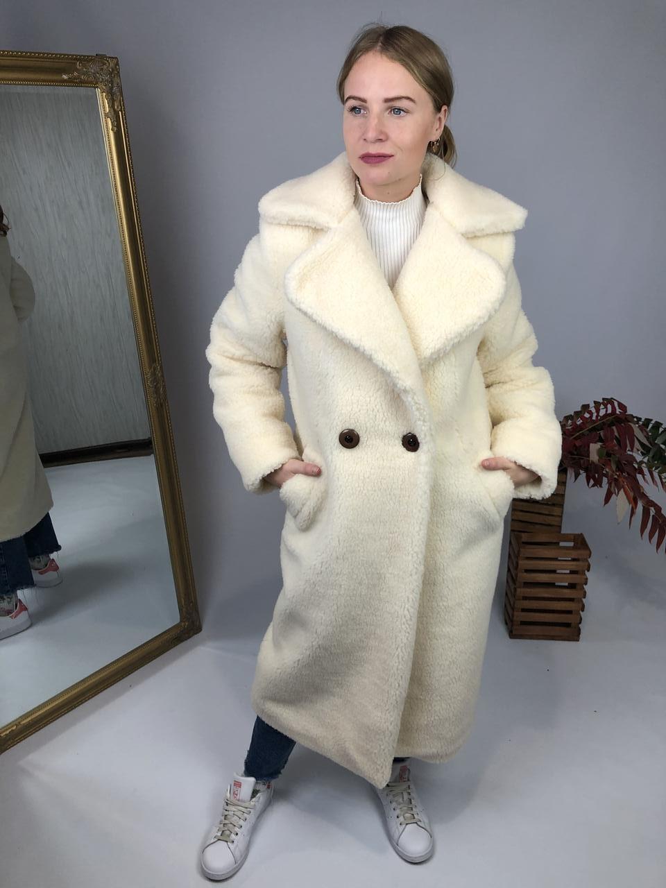 Женская шуба из эко меха Токио белая