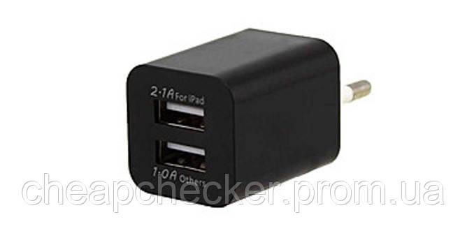 Адаптер Мережевий Ipad AR 2100 2 USB Перехідник