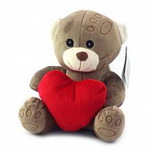"""Плюшева іграшка """"Ведмедик з серцем"""" бежевий"""