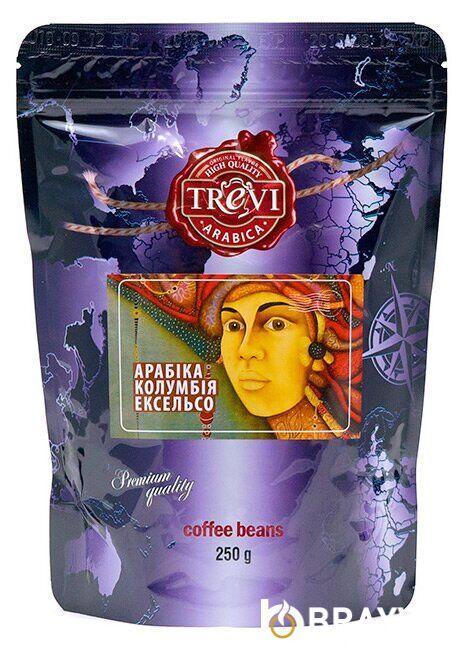 Кофе в зёрнах Trevi Арабика Колумбия Эксельсо 250 г