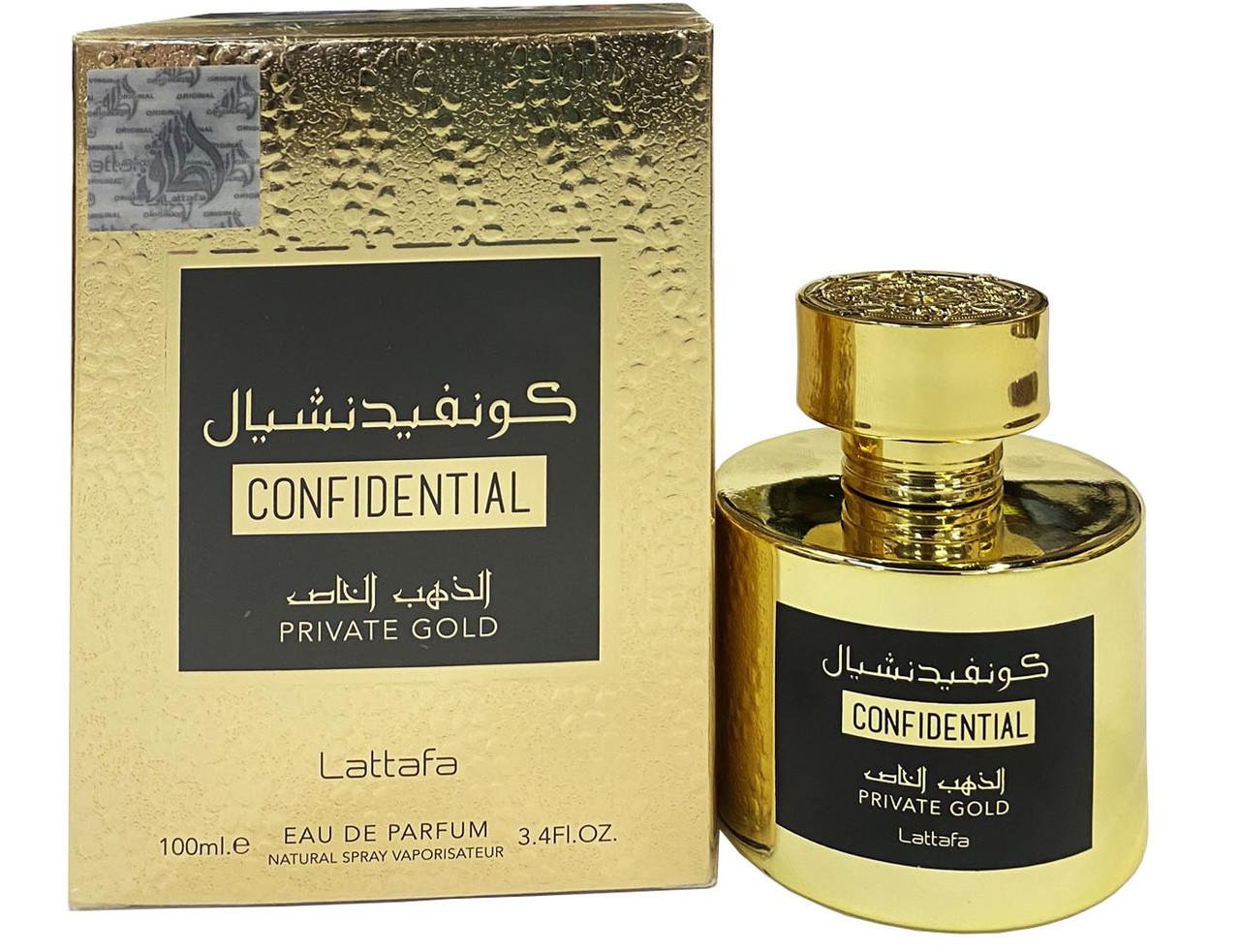 Парфюмированная вода для женщин  Lattafa Confedintial Gold 100 мл