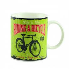 """Чашка """"Велосипед"""", зелена 9 см"""