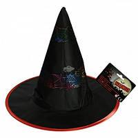 """Шляпа """"Ведьма"""" с паутиной , 37 см"""