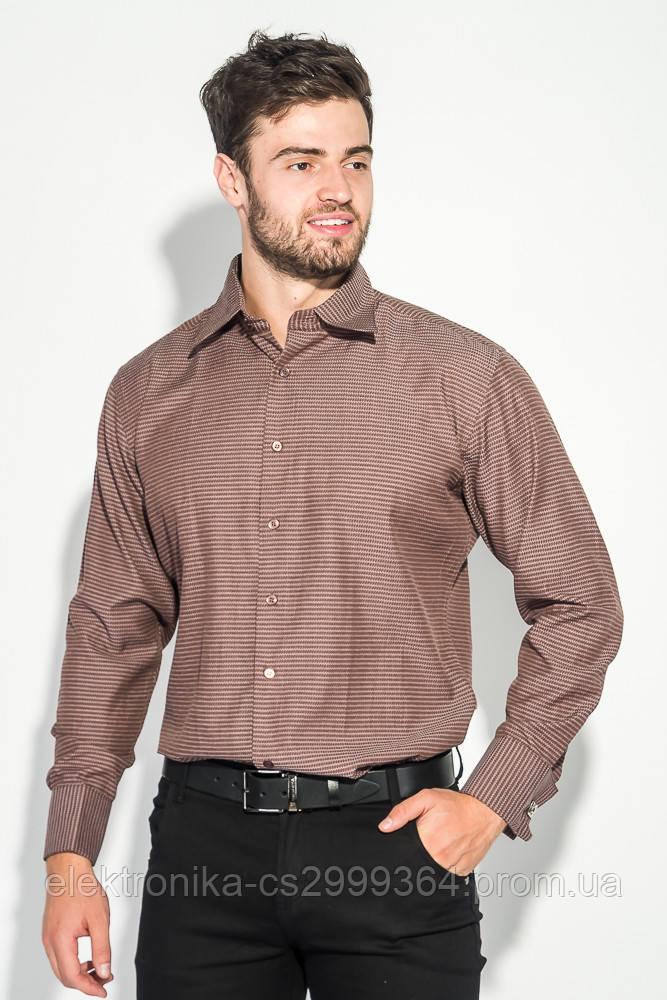 Рубашка 37162-19 цвет Шоколадный