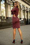 Платье 153R1082 цвет Бордовый, фото 3