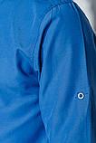 Рубашка №333F007 цвет Лазурный, фото 5