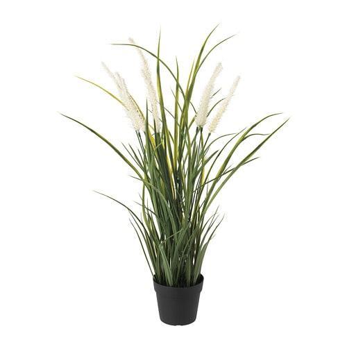 ИКЕА (IKEA) ФЕЙКА, 204.339.36, Искусственное растение в горшке, крытый / открытый украшения, трава, 9 см - ТОП