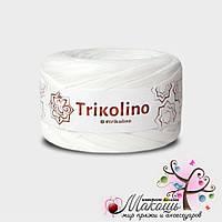 Трикотажная пряжа Триколино, 7-9 мм,430200 теплый белый