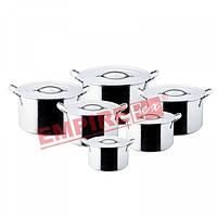 Кастрюли нержавеющие с крышкой (набор 6 шт) Империя Посуды EMP_0060