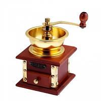 Кофемолка ручная с деревянным ящиком Н 185 мм (шт) Империя Посуды EMP_2360