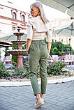 Брюки женские 149R9311-6 цвет Хаки, фото 2