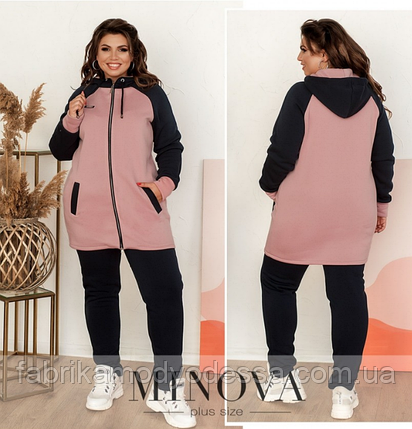Удобный и мягкий спортивный костюм плюс сайз Minova Размеры: 50-52, 54-56, 58-60, 62-64, фото 2