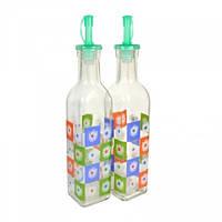 Бутылки стеклянные для масла и уксуса с гейзерной пробкой V 300 мл (набор 2 шт) Империя Посуды EMP_1855