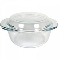 Кастрюля стеклянная жаропрочная с крышкой V 700 мл (шт) Империя Посуды EMP_1862