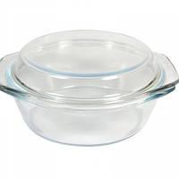 Кастрюля стеклянная жаропрочная с крышкой V 900 мл (шт) Империя Посуды EMP_1863