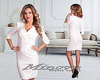 Женское красивое платье Гипюр \ белый