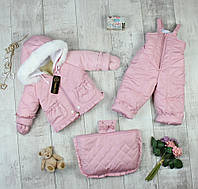 """Комбинезоны детские для девочек с мешочком """"Снеговик"""", фото 1"""