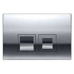 Кнопка Delta 50 Хром Глянец (Квадрат) для инсталяция для унитаза DuoFix Geberit