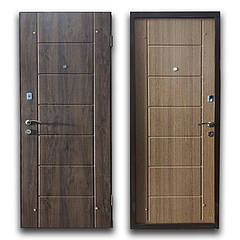 Дверь брон. 860 *70 МДФ накл. Elegant Токио левая улица дуб бронзовий/дуб натуральный BRONX