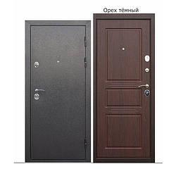 Дверь брон. 860*90 метал/МДФ накл. левая улица Аляска Орех темный Таримус