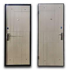 Дверь брон. 860 *70 МДФ накл. Comfort Неаполь правая квартира венге светлый структурный BRONX