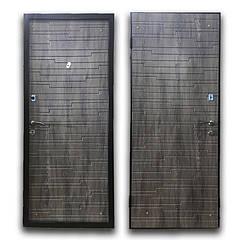 Дверь брон. 860 *70 МДФ накл. Elegant Эстепона левая квартира дуб шато BRONX