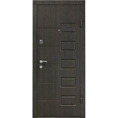 Дверь брон. 860*65 МДФ накл. левая квартира венге структурный Министерство дверей