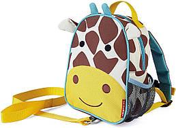 Дитячий міні-рюкзак з повідцем Skip Hop Zoo let (mini backpack with rein) - Giraffe (Жираф), 1-4 р.