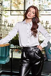 Белая блузка из шёлка классическая