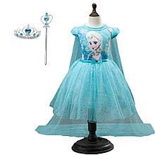 Детское платье Холодное сердце.Платье Эльза.Детское платье со шлейфом. Карнавальное  платье.Платье принцессы.