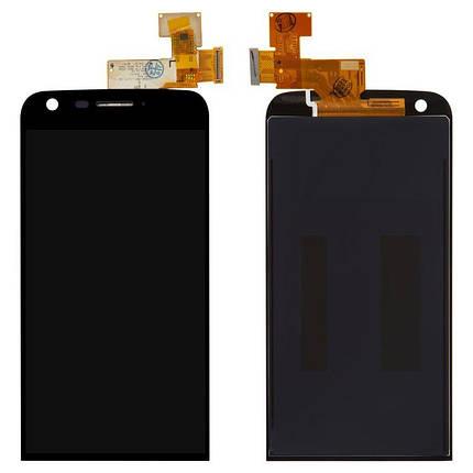 Дисплей (экран) для LG H820 G5 с сенсором (тачскрином) черный Оригинал, фото 2