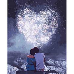 Картини за номерами - Закохані серця | Ідейка™ 40х50 див. | КН4527