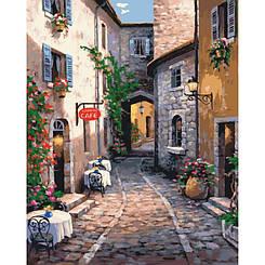 Картины по номерам - Тихая улочка   Идейка™ 40х50 см.   КН2191