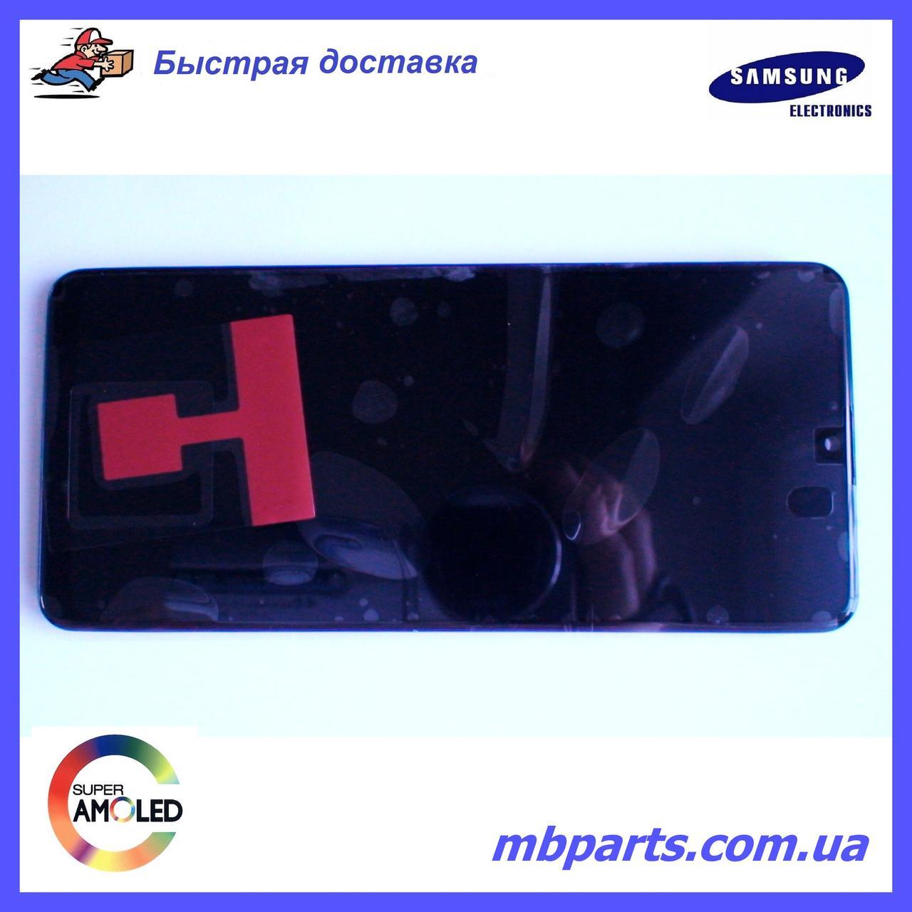 Дисплей з сенсором Samsung А315 Galaxy А31 Black, GH82-22761A, оригінал з рамкою!