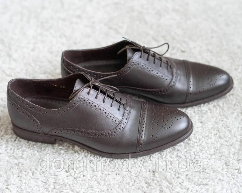 Туфли мужские из кожи Brogues brown