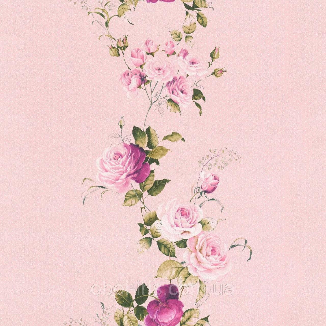 289076 обои Petite Fleur 4 Rasch Textil Германия виниловые на флизелиновой основе 0,53*10,05м