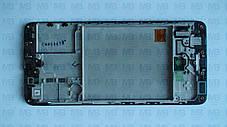 Дисплей с сенсором Samsung А415 Galaxy А41 Black, GH82-22860A, оригинал с рамкой!, фото 3
