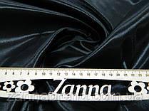 Ткань сатин-твил черного цвета
