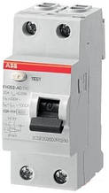 Диференціальне реле, ПЗВ, ABB FH202 AC-40/0,03, 40, 30 мА, AC