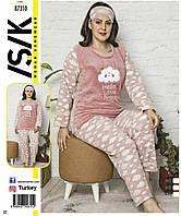 Пижама длинный рукав теплая большие размеры