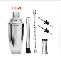 Коктейльный шейкер-смеситель 750 ml 6 предметов