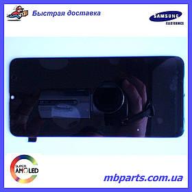 Дисплей з сенсором Samsung M305 Galaxy M30 чорний, GH82-19347A, оригінал, без рамки!