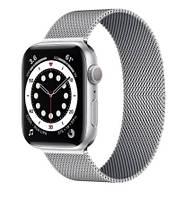 Ремешок миланская петля для смарт-часов Apple Watch 38 мм / 40 мм Серебристый