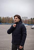 Куртка зимняя мужская с капюшоном Glacier до - 25*С теплая темно-синяя   Пуховик мужской зимний ЛЮКС качества