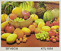Картина по номерам KTL 1054 Фрукты и овощи, 40 х 30 см, в коробке, фото 1