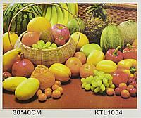 Картина за номерами KTL 1054 Фрукти і овочі, 40 х 30 см, в коробці, фото 1