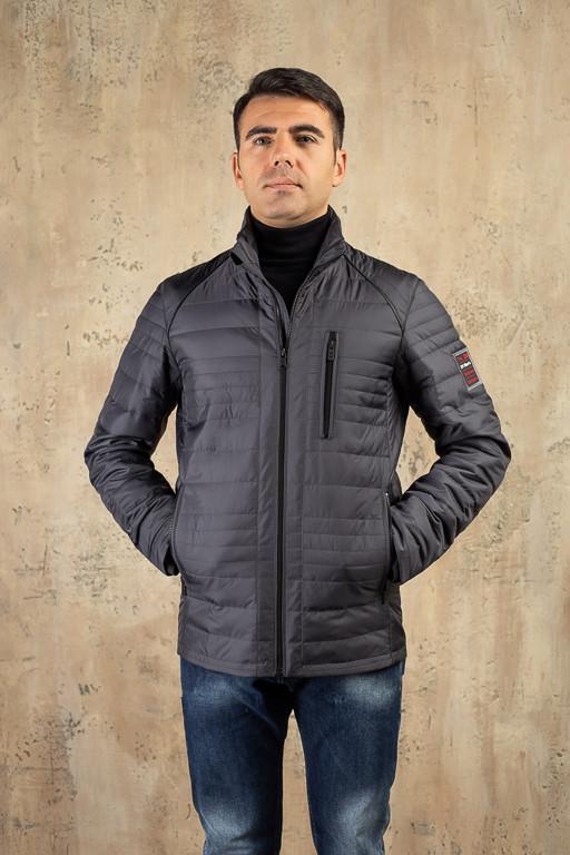 Куртка чоловіча DVMens DVD-38 СІРА 100% поліестер 60(Р)